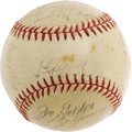 Autographs:Baseballs, 1939 New York Yankees Team Signed Baseball with Authentic Gehrig.The dreadful diagnosis that explained Gehrig's sudden fal...