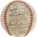 Autographs:Baseballs, 1941 New York Yankees Team Signed Baseball. This squad is oftenthought of as the finest of the dynasty that took home seve...