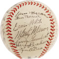 Autographs:Baseballs, 1943 St. Louis Cardinals Team Signed Baseball. High-grade spheredates to a National League pennant-winning season for the ...