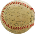 Autographs:Baseballs, 1945 Pittsburgh Pirates Team Signed Baseball with Honus Wagner.With the Major League talent pool diminished by the draft, ...