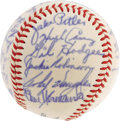 Autographs:Baseballs, 1948 Brooklyn Dodgers Team Signed Baseball from Durocher Collection. Direct from the personal collection of the club's Hall...