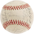 Autographs:Baseballs, 1949 New York Yankees Team Signed Baseball. For a third time themighty Bronx Bombers would meet the Brooklyn Dodgers in Oc...