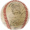 Autographs:Baseballs, 1949 Brooklyn Dodgers Team Signed Baseball. Another National LeagueChampionship season for the Bums, who would once again ...