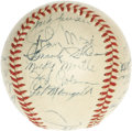 Autographs:Baseballs, 1951 New York Yankees Team Signed Baseball. Widely considered to be the most desirable of all post-war team balls are those...