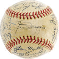 Autographs:Baseballs, 1951 New York Yankees Team Signed Baseball. For many fans of theNew York Yankees, the invention of a time machine would be...