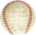 Autographs:Baseballs, 1952 New York Yankees Team Signed Baseball. With an AmericanLeague-leading sixty-seven extra base hits in his sophomore se...
