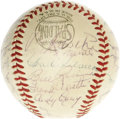 Autographs:Baseballs, 1953 New York Yankees Team Signed Baseball. The Yanks made Bums of the Brooklyn Dodgers again this October, extending their...