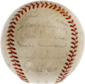 "Autographs:Baseballs, 1955 Brooklyn Dodgers Team Signed Baseball. After decades of singing that common refrain, ""Wait 'til next year,"" the Ebbets..."