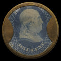 Encased Postage: , HB-50 EP-6 1¢ Joseph L. Bates Fancy Goods Extremely Fine.. ...
