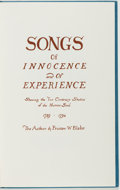 Books:Literature Pre-1900, William Blake. Songs of Innocence and of Experience. [NewYork and London: Orion Press and Trianon Press, 1967]....