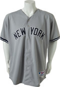 Baseball Collectibles:Uniforms, Circa 2002 Jason Giambi Game Worn New York Yankees Jersey....