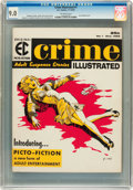 Magazines:Crime, Crime Illustrated #1 (EC, 1955) CGC VF/NM 9.0 Off-white pages....