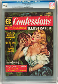 Confessions Illustrated #1 (EC, 1956) CGC NM+ 9.6 Off-white to white pages