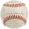 Autographs:Baseballs, 1958 New York Yankees Team Signed Baseball. After losing World Series Game Seven to the Milwaukee Braves the season before,...