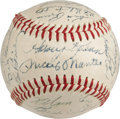 Autographs:Baseballs, 1958 American & National League All-Star Team Signed Baseball.While most team signed baseballs from this midseason event a...