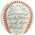Autographs:Baseballs, 1959 Milwaukee Braves Team Signed Baseball. One glance at this ONL (Giles) ball and you'd have to admit that it's one of th...