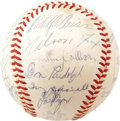 "Autographs:Baseballs, 1959 Chicago White Sox Team Signed Baseball. Taking Chicago's ""second team"" to the Series for the first time since the Blac..."