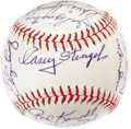 Autographs:Baseballs, 1962 New York Mets Team Signed Baseball Despite losing 120 games this season, and causing manager Casey Stengel to lament, ...