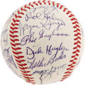 Autographs:Baseballs, 1968 St. Louis Cardinals Team Signed Baseball. Another NationalLeague Championship for the Busch Stadium bunch, twenty-sev...