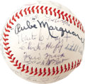 Autographs:Baseballs, 1971 Hall of Famers Multi-Signed Baseball. From the same consignorwho supplied the 1966 Hall of Fame sphere comes this one...