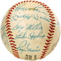Autographs:Baseballs, 1972 Old Timer's Game Multi-Signed Baseball with Mantle, Maris.From the personal collection of 1947 World Series hero Al G...