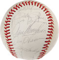 Autographs:Baseballs, 1976 Cincinnati Reds Team Signed Baseball. The Big Red Machine rolled to a second consecutive World Championship this seaso...