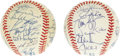 Autographs:Baseballs, 1992 & 1993 Toronto Blue Jays Team Signed Baseballs. The World Championship of Major League Baseball takes a two-year vacat... (Total: 2 )