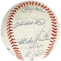 "Autographs:Baseballs, 2000 New York Yankees Team Signed Baseball. For the first time since 1956, New York City baseball fans were treated to a ""S..."