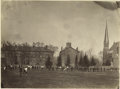 Baseball Collectibles:Photos, Early 1870's Albumen Photograph of a Baseball Game in Progress,Type 1. Posed photographs of ballplayers from this era are ...