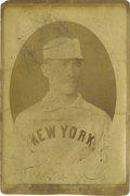 Baseball Collectibles:Photos, 1888 S.F. Hess Cabinet Photograph of Silent Mike Tiernan, Type 1.This remarkable early cabinet photo utilizes the same ima...