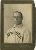 Baseball Collectibles:Photos, 1903-04 Sam Mertes Cabinet Photograph by Horner, Type 1. Themasterful portraiture of this early cabinet photograph would b...