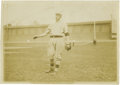 Baseball Collectibles:Photos, 1909 Christy Mathewson Wire Photograph by Thompson, Type 1. Theblack armband ringing Matty's left sleeve allows us to date...