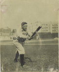 Baseball Collectibles:Photos, Circa 1914 Joe Jackson Photograph by Conlon, Type 1. The youngsuperstar from Pickens County, Georgia displays the batting ...