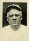 Baseball Collectibles:Photos, 1922 John McGraw Wire Photograph by Thompson, Type 1. Hauntingportrait pictures the Hall of Fame manager aged well beyond ...