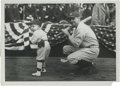 Baseball Collectibles:Photos, Early 1920's Babe Ruth Culver Service Photograph, Type 2. Ruthadopts a right-handed batting stance for the sake of this ch...