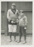 Baseball Collectibles:Photos, 1920's Babe Ruth Culver Service Photograph, Type 2. The Babe's famed kindness to children was not merely folklore, as is ap...