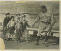 """Baseball Collectibles:Photos, 1927 Babe Ruth Culver Service Photograph, Type 1. Vintage notationson verso date this image to """"Oct. 22/ 27,"""" just weeks a..."""