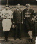 Baseball Collectibles:Photos, 1927 Babe Ruth & Lou Gehrig Oversized Culver ServicePhotograph, Type 1. Splendid portrait of these legendary Yankeesdatin...