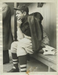 "Baseball Collectibles:Photos, 1935 Babe Ruth Culver Service Photograph, Type 1. Handwritten dateof ""1935, 5/21"" on verso pegs this haunting image to jus..."