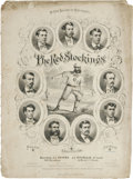 Baseball Collectibles:Others, 1869 Cincinnati Reds Sheet Music. The world's first professional baseball team is honored in song by this exceedingly rare ...