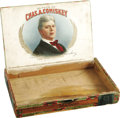 Baseball Collectibles:Others, Circa 1901 Charles Comiskey Cigar Box. Exceedingly rare artifact likely dates from the year that the Chicago White Sox owne...