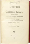 "Baseball Collectibles:Others, 1917 Moe Berg's Personal Japanese Language Textbook. Thisunassuming hardcover entitled, ""A Text-Book of ColloquialJapanes..."