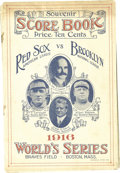 Baseball Collectibles:Programs, 1916 World Series Official Program (Boston). Just two days after a fan in Boston neatly scored the first game of the Fall Cl...