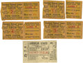 Baseball Collectibles:Others, 1919 World Series Ticket Stubs Lot of 5. With the possible exception of the inaugural Fall Classic in 1903, the most sought... (Total: 6 )
