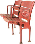 Baseball Collectibles:Others, 1935 Crosley Field Stadium Seats Duo with Figural Side. Only monthsold when the venerable Cincinnati ballpark hosted Major... (Total:2 Items)