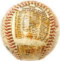 Autographs:Baseballs, 1962 Roger Maris Signed Sosnak Folk Art Baseball. Spectacular detail and simplistic charm characterize the highly collectib...