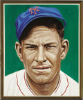 Baseball Collectibles:Others, Mel Ott Portrait from the 500 Home Run Club Series by Andy Jurinko.The third member of the Club, who made fine use of a sh...