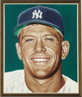 Baseball Collectibles:Others, Mickey Mantle Portrait from the 500 Home Run Club Series by Andy Jurinko. The childhood hero of countless young baseball fa...