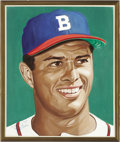 Baseball Collectibles:Others, Eddie Mathews Portrait from the 500 Home Run Club Series by AndyJurinko. With Hank Aaron, Mathews was part of a devastatin...