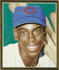 "Baseball Collectibles:Others, Ernie Banks Portrait from the 500 Home Run Club Series by AndyJurinko. The beloved Chicago Cub whose exuberant spirit (""Le..."
